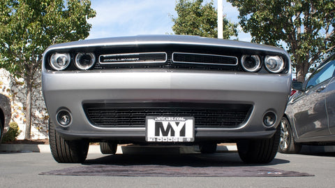 Removable License Plate Bracket for 2015-2018 Dodge Challenger (with Adaptive Cruise) - Installed 1