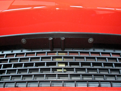 Image of Removable, No Drill License Plate Bracket for 2015-2019 Dodge Challenger Hellcat/Demon (Upper Mount) - Installed