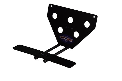 Removable, No Drill License Plate Bracket for 2015-2019 Dodge Challenger Hellcat/Demon (Upper Mount) - Parts 1