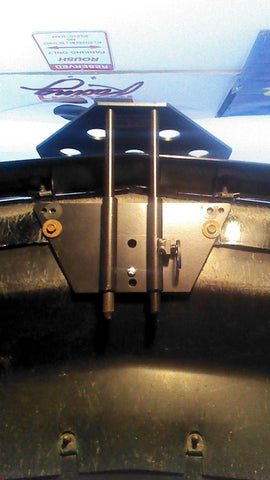 Image of Removable License Plate Bracket for 2005-2009 Ford Roush Mustang - Installed