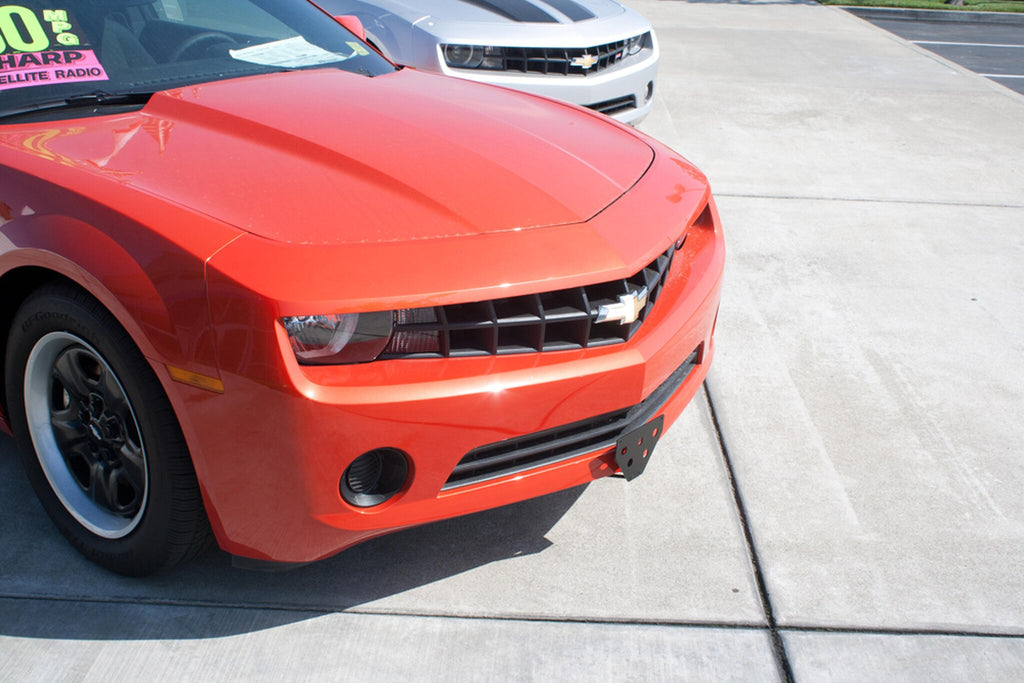Removable License Plate Bracket for 2010-2013 Camaro V6 - Installed Tilt