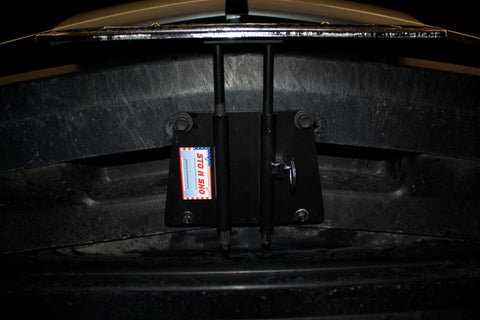 Image of Removable License Plate Bracket for 2007-2009 Ford Mustang Shelby GT & California Special - Installed 2