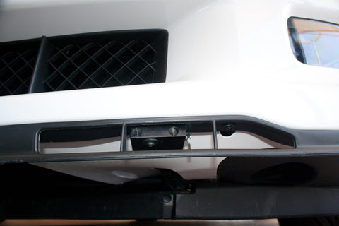 Image of Removable, No Drill License Plate Bracket for 2005-2013 Chevrolet Corvette Grand Sport, Z06, ZR1 - Installed 1