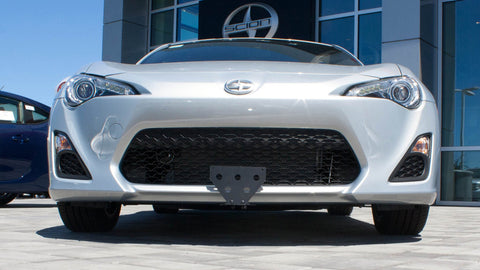 Image of Removable Front License Plate Bracket for 2012-2016 Scion FR-S - Installed