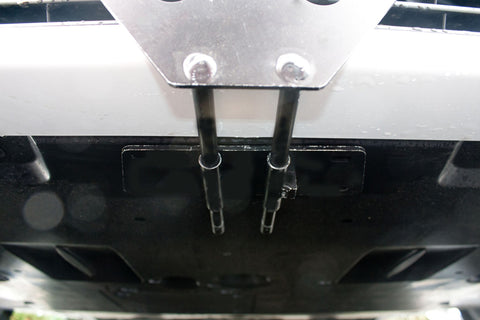 Image of Removable License Plate Bracket for 2013-2014 Lexus GS350 - Installed