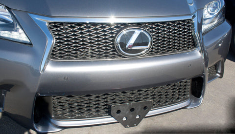 Image of Removable Front License Plate Holder Bracket Lexus GS350 F Sport