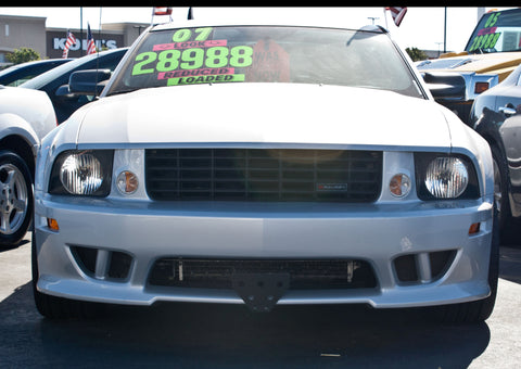 Image of Removable Front License Plate Holder Bracket Ford Mustang Saleen