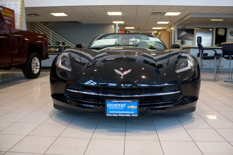 Image of Removable, No Drill License Plate Bracket for 2014-2019 Chevrolet Corvette Stingray & Grand Sport - Installed