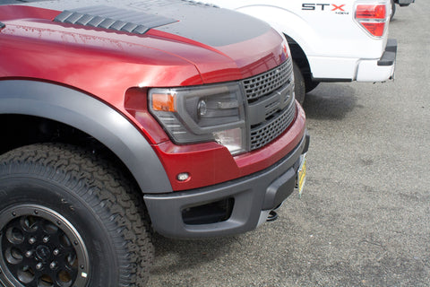 Image of Removable License Plate Bracket for 2010-2014 Ford Raptor - Installed