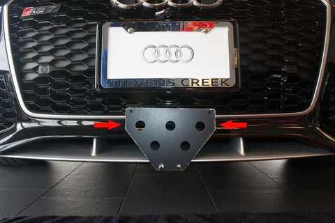 Removable Front License Plate Holder Bracket Audi RS7