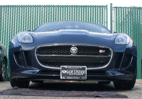 Removable, No Drill License Plate Bracket for 2013-2019 Jaguar F-Type - Installed 1