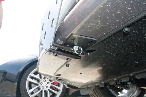 Image of Removable License Plate Bracket for 2012-2015 Jaguar XF Luxury Sedan - Installed
