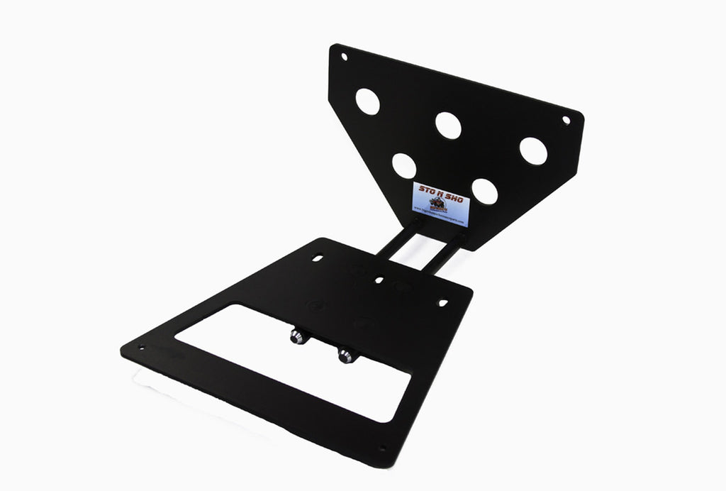 Removable, No Drill License Plate Bracket for 2013-2014 Ford Mustang Shelby GT500 - Parts 1