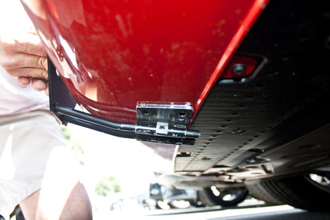 Image of Removable License Plate Bracket for 2013-2016 Audi S5 - Installed