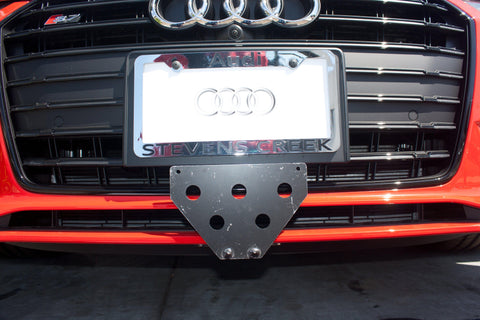 Image of Removable Front License Plate Holder Bracket Audi S5