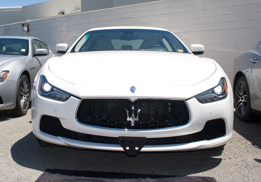 Removable Front License Plate Holder Bracket Maserati Ghibli
