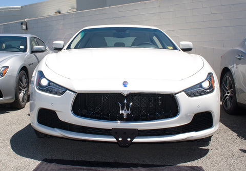 Image of Removable Front License Plate Holder Bracket Maserati Ghibli