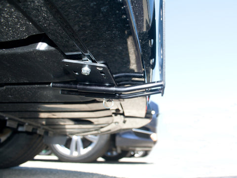 Image of Removable, No Drill License Plate Bracket for 2013-2015 Jaguar XJ - Installed 2