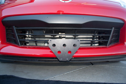 Image of Removable Front License Plate Holder Bracket Nissan 370z