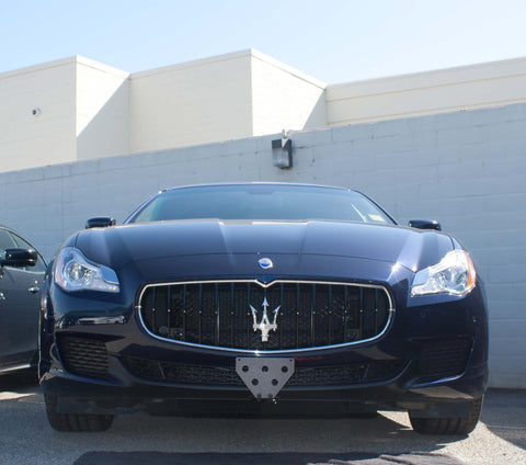 Image of Removable Front License Plate Holder Bracket Maserati Quattroporte
