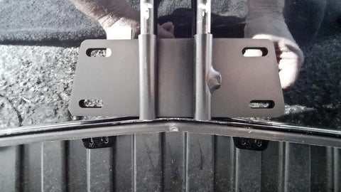 Removable License Plate Bracket for 2016 Mercedes E400 non Sport - Installed