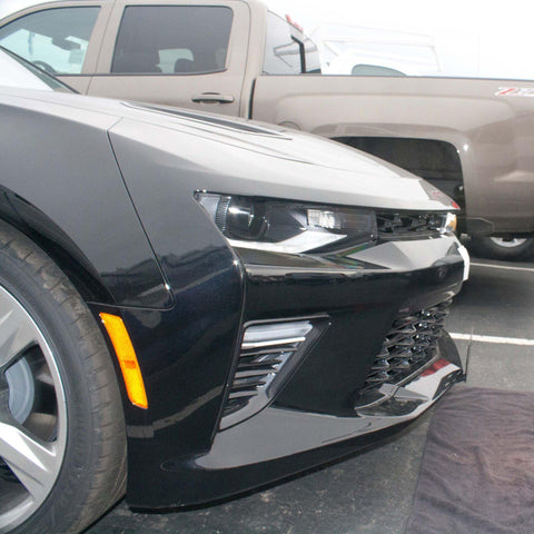 Image of Removable, No Drill License Plate Bracket for 2016-2019 Chevrolet Camaro 1LT, 2LT, RS, 1SS, 2SS - Installed Side