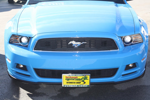 Image of Removable License Plate Bracket for 2013-2014 Ford Mustang GT/V6 - Installed 1
