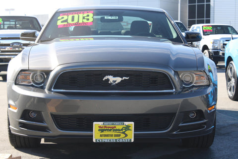 Image of Removable License Plate Bracket for 2013-2014 Ford Mustang GT/V6 - Installed 2