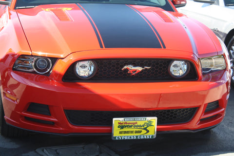 Image of Removable Front License Plate Holder Bracket Ford Mustang GT/V6