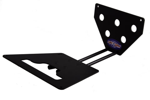 Removable, No Drill License Plate Bracket for 2015-2019 Ford Mustang Shelby GT350/GT350R - Parts 1