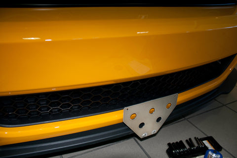 Removable Front License Plate Holder Bracket Mustang Boss 302 & California Special