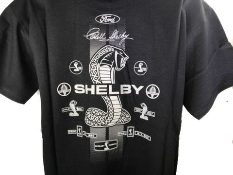 Image of Shelby Signature Cobra Snake Emblem T-Shirt - Back - Live Fast Supply Company