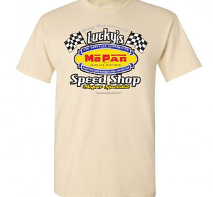 Mopar Lucky's Speed Shop T Shirt - Live Fast Supply Company