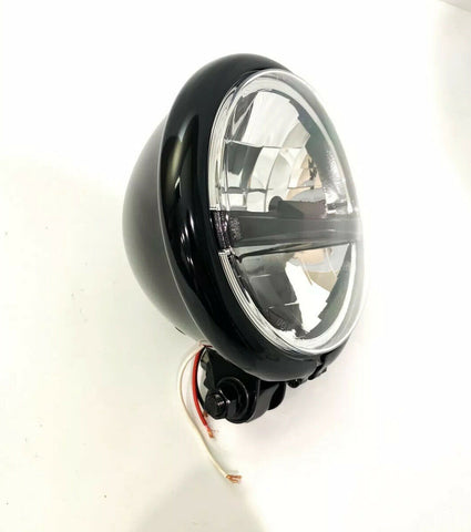 "Black Motorcycle Bottom Mount Housing with 8 LED Headlight - 5 3/4"" Inch-Live Fast Supply Company"