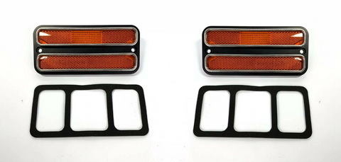 Image of Amber Deluxe Side Marker Light Turn Signal For 1968-1972 Chevy & GMC Truck-Live Fast Supply Company