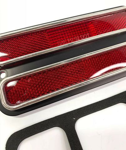 Red Deluxe Side Marker Light Turn Signal For 1968-1972 Chevy & GMC Truck-Live Fast Supply Company