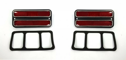 Image of Red Deluxe Side Marker Light Turn Signal For 1968-1972 Chevy & GMC Truck-Live Fast Supply Company