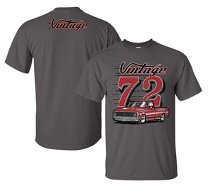 1972 Chevy C10 Vintage T Shirt w/ Red Chevrolet Truck