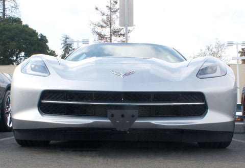 Image of Removable, No Drill Front License Plate Holder Bracket Corvette Stingray & Grand Sport