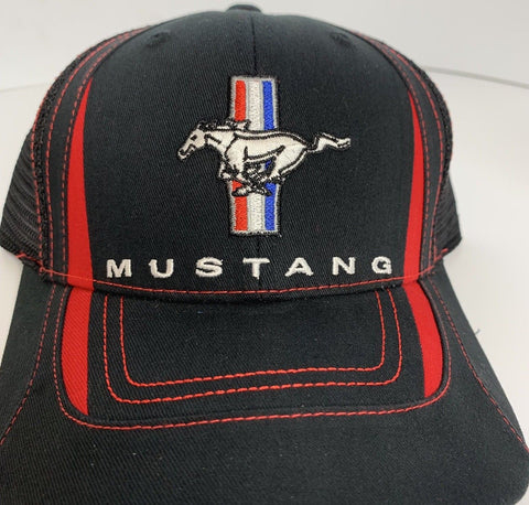 Classic Ford Mustang Logo / Emblem Trucker Hat (Top)