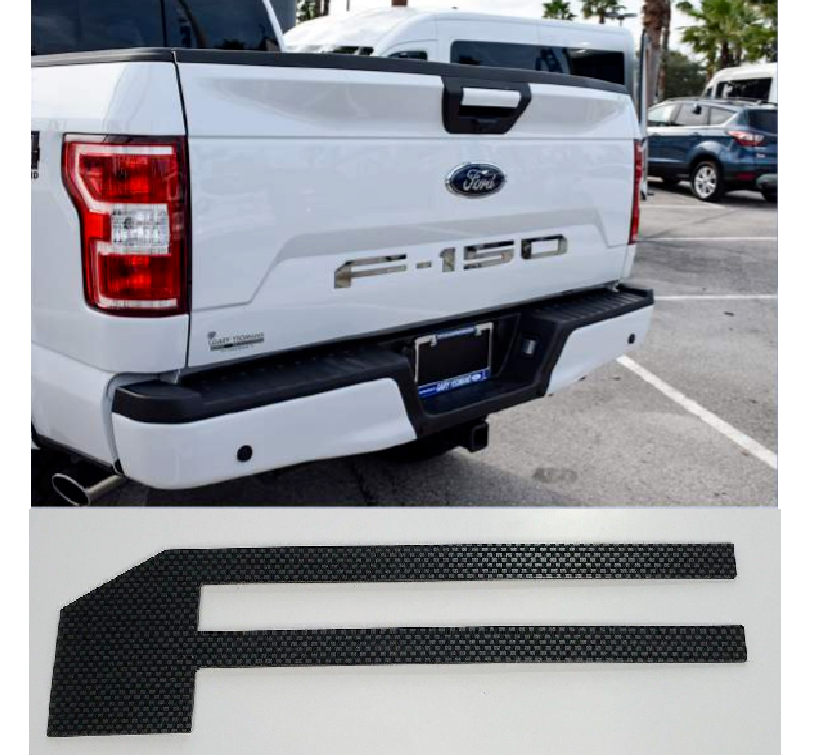 2018-2019 Ford F150 Tailgate Letter Inserts - Carbon Fiber - Main