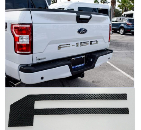 Image of 2018-2019 Ford F150 Tailgate Letter Inserts - Carbon Fiber - Main