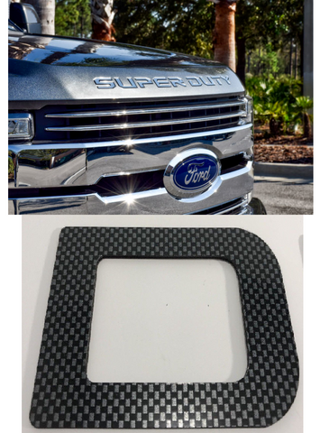 Image of 2017-2020 Ford Super Duty Hood Letter Inserts - Carbon Fiber - Main
