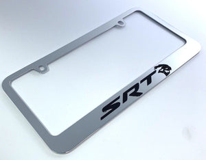 Dodge SRT Hellcat License Plate Frame - Chrome (Main)