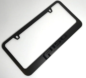 Ford F-150 License Plate Frame - Black with Black Script (Main)