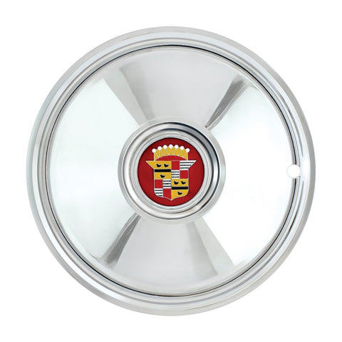 "Image of Cadillac Hubcaps - Chrome Plated 16"" Sombrero (Set of 4) - Main"
