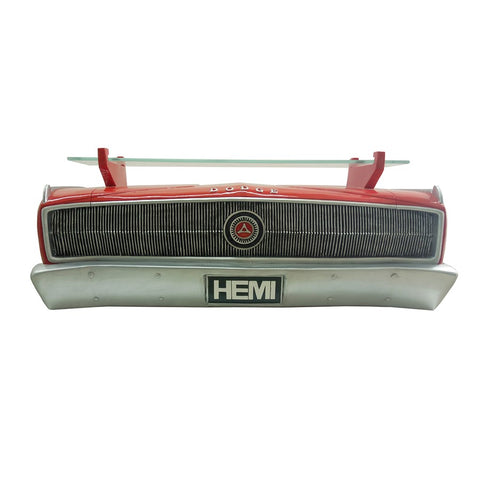 Image of 1967 Dodge Charger Hemi Wall Shelf - Classic Red w/ Glass Shelf - Main