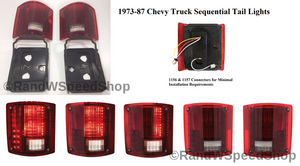 Pair 1973-87 Chevy Truck Sequential LED Tail Lights - Main