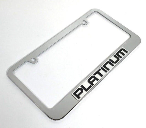 Ford Platinum License Plate Frame - Chrome with Black Script (Main)