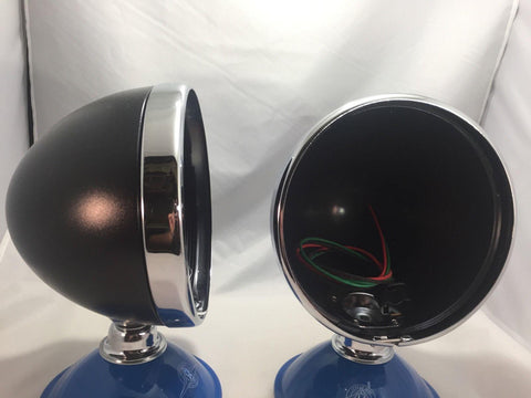 Image of 7 Inch Dietz Style Headlight Buckets - Black (Pair)